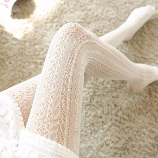elegant lace tights lolita pantyhose nylons lacy elegance royal regal victorian era by kawaii babe
