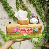 my neighbor totoro tissue box kleenex cover tree stump log chinchilla mouse green leaf flowers kawaii harajuku anime studio ghibli by kawaii babe