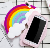 3d Rainbow iphone case phone protector cover apple iphones model kidcore colorful clouds shockproof durable by kawaii babe