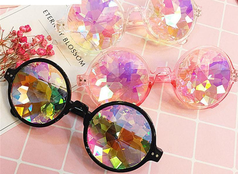 crystal sunglasses crystallized gems jewels shades sun glasses specs round circle kawaii harajuku japan fashion by kawaii babe