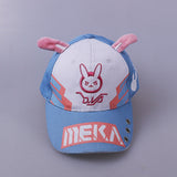 Overwatch D.VA DVA Cosplay Anime Bunny Ear Baseball Hat Cap Fairy Kei Pastel Anime