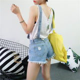 Distressed Jean Overalls Jumper