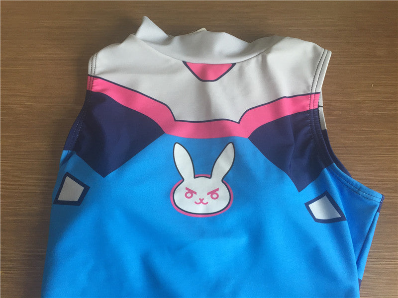 Overwatch D.VA DVA Cosplay Anime SwimSuit One Piece Swim Suit Gamer Girl Fandom Costume