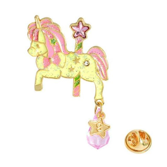 Magical Pony Carousel Enamel Pin Brooch Lapel Kawaii Jewel Charm