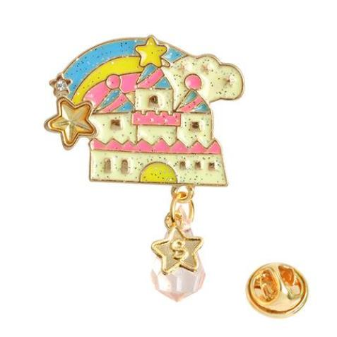 Magic Castle Enchanted Lapel Pin Rainbow Enamel Brooch Kawaii J Fashion