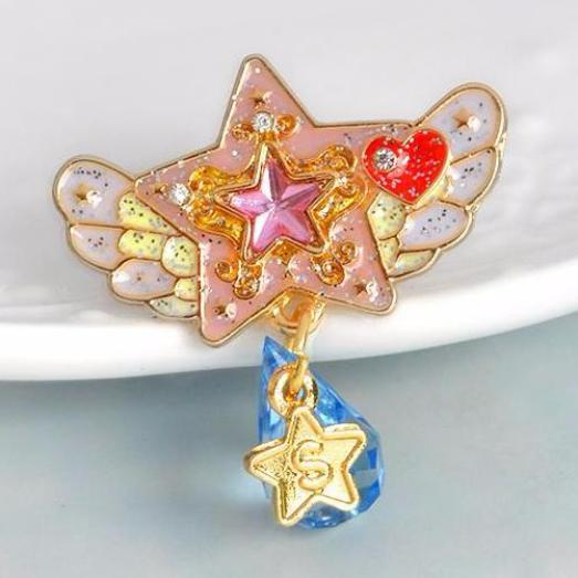 Winged Star Magical Girl Enamel Pin Lapel Brooch Mahou Shoujo Sailor Moon Kawaii