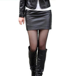 black sexy vegan leather bondage skirt bdsm kink fetish cruelty free pencil miniskirt