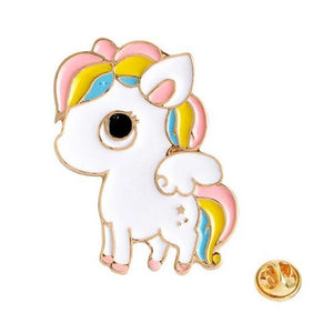 kawaii rainbow pony unicorn enamel pin lapel brooch collection tokidoki unicorno harajuku japan fashion by kawaii babe