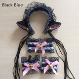 Kawaii Neko Cat Collar And Cat Ear Complete Set Pet Play Kitten Cosplay Costume by Kawaii Babe