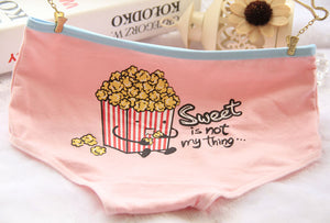 sweet popcorn full brief underwear undies pantie lingerie boy shorts candy colored pastel by kawaii babe