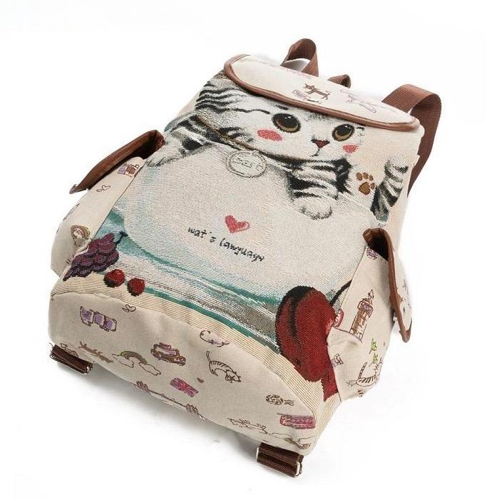 Canvas Kitten Rucksack