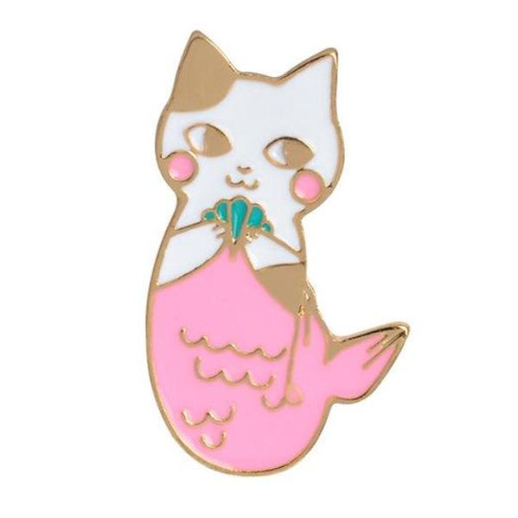 Mermaid Cat MerCat Enamel Pin Brooch Lapel Kawaii Pastel Aesthetic