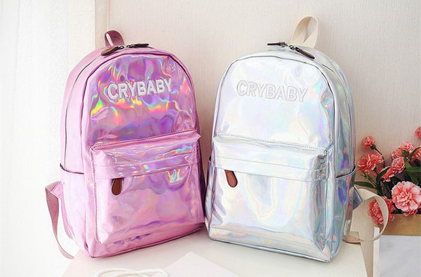 Cry Baby Holographic Backpack