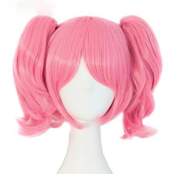 puella magi madoka magica magical girl cosplay wig synthetic hair anime cosplaying kanekalon fibre kawaii babe