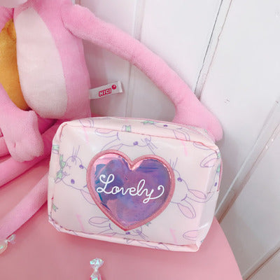 Lovely Pink Cosmetic Bag