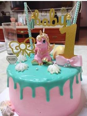 golden pink unicorn candles pegasus my little pony  birthday cake candle stick wax figurine kitsch kawaii cake decorating decor baby shower by kawaii babe