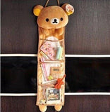 hanging rilakkuma bear brown storage unit organizing storing solution for kawaii bedroom home decoration plush soft animal teddy bear by kawaii babe