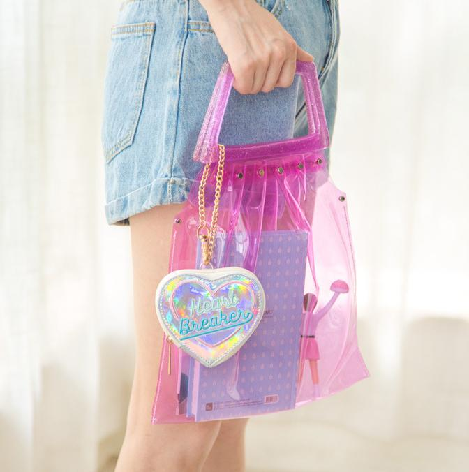 Holographic Heart Breaker Bag
