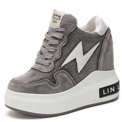 Lightning Bolt Wedge Sneakers