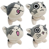 grey kawaii neko cat kitten plush toy stuffed animal keychain phone strap charm anime funny face expression kawaii babe
