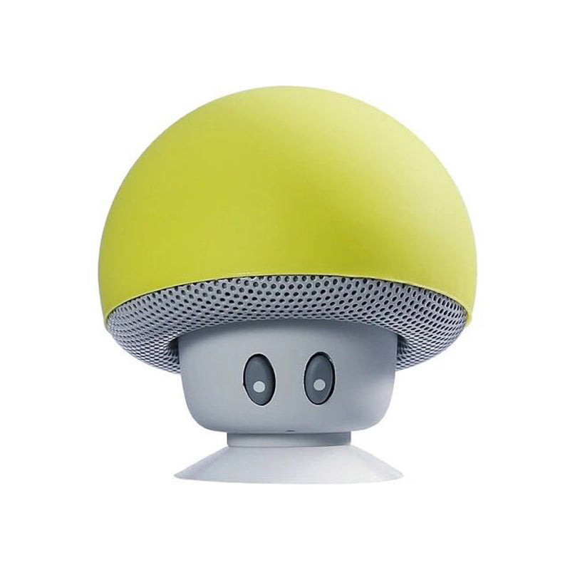 waterproof bluetooth yellow mushroom speaker with built in microphone hands free mic device portable nintendo kawaii mushroom toadstool by kawaii babe