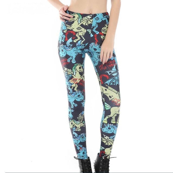 Zombie Unicorn Dragon Leggings