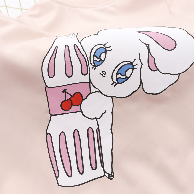 wego bunny rabbit spring jacket winter coat corset laces ribbon sleeves pastel pink harajuku japan fashion cartoon by kawaii babe