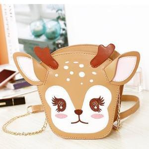 Kawaii Baby Deer Reindeer Christmas Handbag Purse Bag Lolita Girl Japan Harajuku Fashion