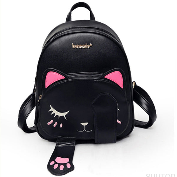 Neko Cat Paws Kawaii Harajuku Backpack Book Bag Ruck Sack