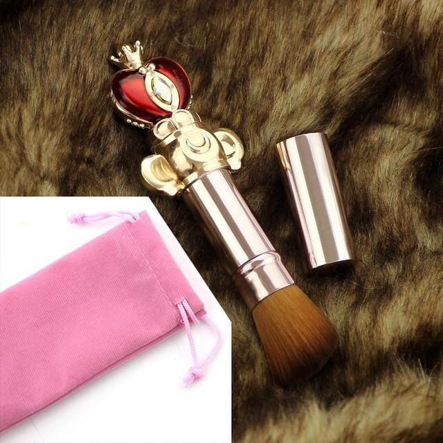 Sailor Moon Wand Make-up Brush Cosmetic Set Blush Contour Foundation Brushes Kawaii Mahou Shoujo Card Captor Sakura