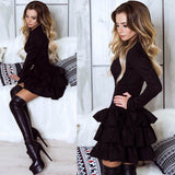 suede velvet long sleeve dress ruffled tutu skirt velour luxury royal warm winter wear by kawaii babe
