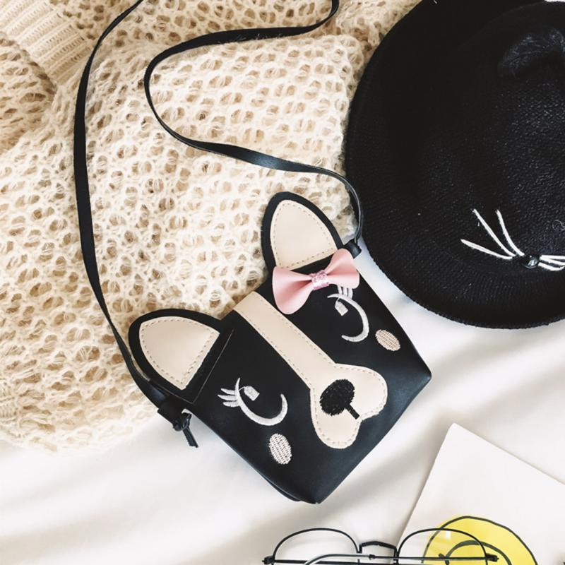 Black 3D vegan leather puppy dog handbag purse messenger bag shoulder bag satchel kawaii harajuku japan fashion by kawaii babe