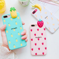 3d fruit rubber iphone cases banana pineapple strawberry watermelon fruity food tropical bendy soft iphone cases harajuku japan fashion by kawaii babe