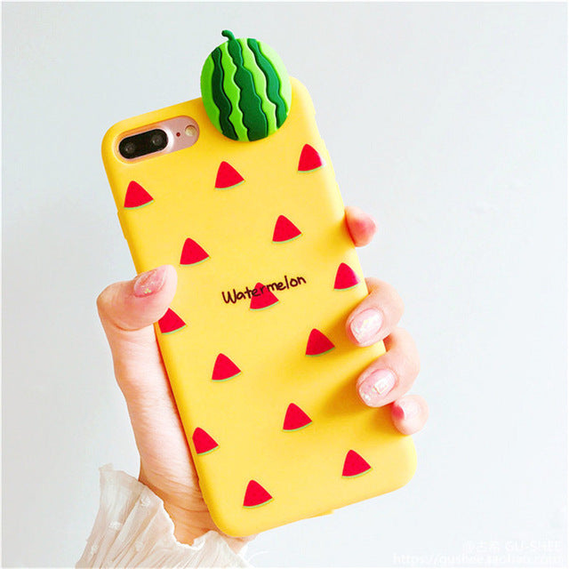 3d fruit rubber iphone cases watermelon melon fruity food tropical bendy soft iphone cases harajuku japan fashion by kawaii babe