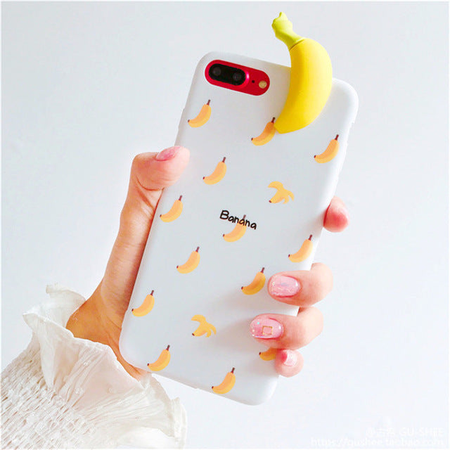 3d fruit rubber iphone cases white banana fruity food tropical bendy soft iphone cases harajuku japan fashion by kawaii babe