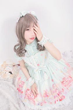 Sweet Lolita Dress Cosplay Candies Donuts Sweets Kawaii Fairy Kei Pastel Aesthetic Harajuku Fashion