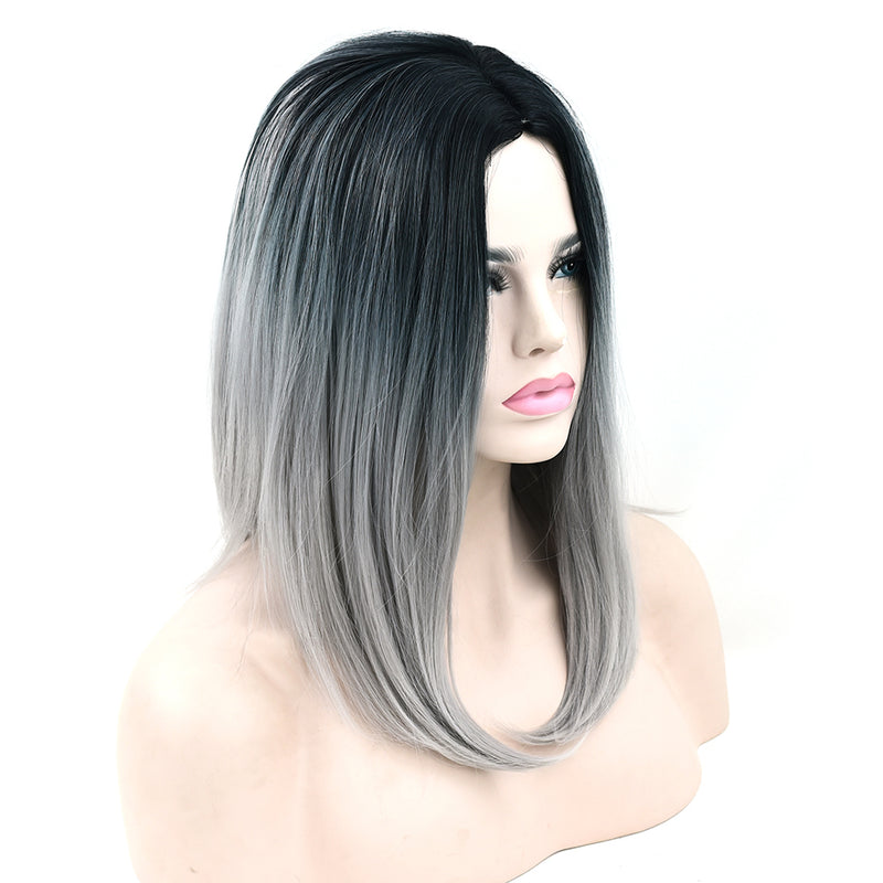 Ombre Medium Length Wigs