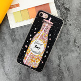 3D Starbucks Coffee Glitter Iphone Case rubber silicone soft phone case shock proof durable pink shimmer cases by kawaii babe
