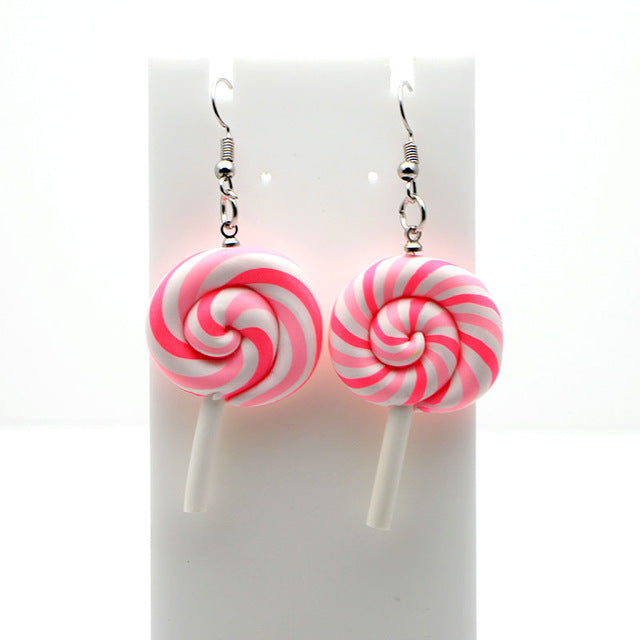 Rainbow Lollipop Earrings