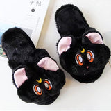 Fuzzy Cat Slippers