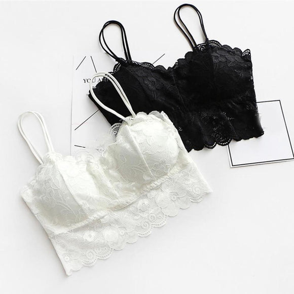 black white lace bralette camisole tank top belly cropped shirt elegant dainty small by kawaii babe