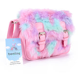 Pastel Vegan Fur Messenger Bag