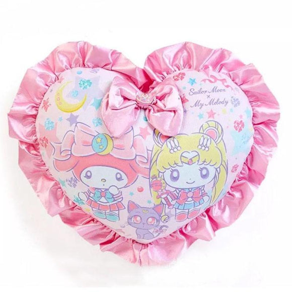 My Melody Sanrio Sailor Moon Throw Pillow Home Decor Decoration Plush Stuffed Animal Kawaii Fairy Kei Cute