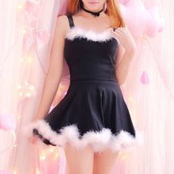 Snow Princess Christmas Dress Mrs. Clause Santa Vegan Fur Sexy Xmas Lingerie DDLG ABDL by Kawaii Babe