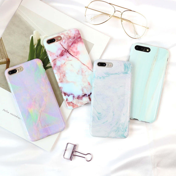 pastel milky marble granite stone iphone cases soft tpu rubber silicone phone case by kawaii babe