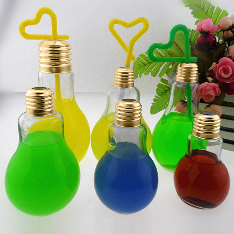 lightbulb water bottle glass light bulb shaped drinking glasses unique novelty gift items by kawaii babe