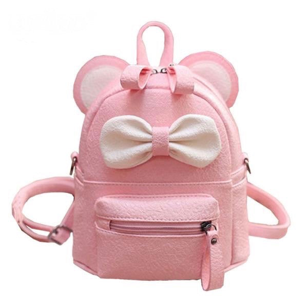 kawaii bear ear vegan leather backpack book bag satchel knapsack rucksack bow fairy kei pastel harajuku japan fashion by kawaii babe