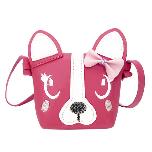 pink 3D vegan leather puppy dog handbag purse messenger bag shoulder bag satchel kawaii harajuku japan fashion by kawaii babe