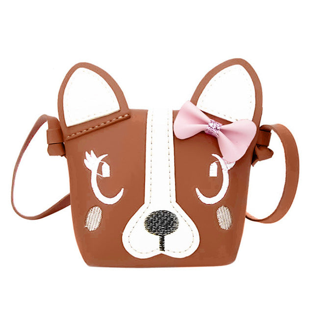 brown 3D vegan leather puppy dog handbag purse messenger bag shoulder bag satchel kawaii harajuku japan fashion by kawaii babe