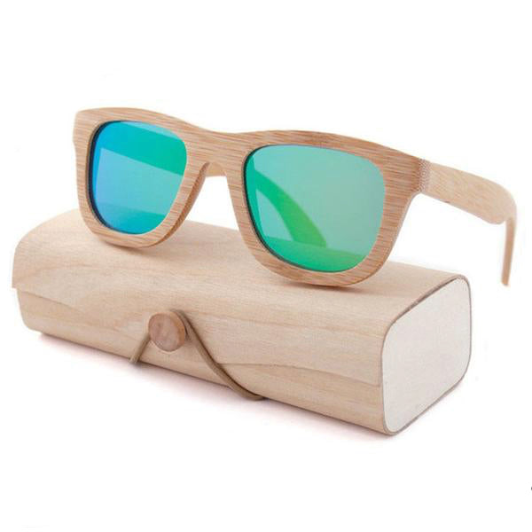100% genuine bamboo wood sunglasses sun shades uv protection with wooden case quality summer ombre by kawaii babe